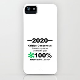 Humourous 2020 Review Rotten Tomatoes Score From World Population iPhone Case