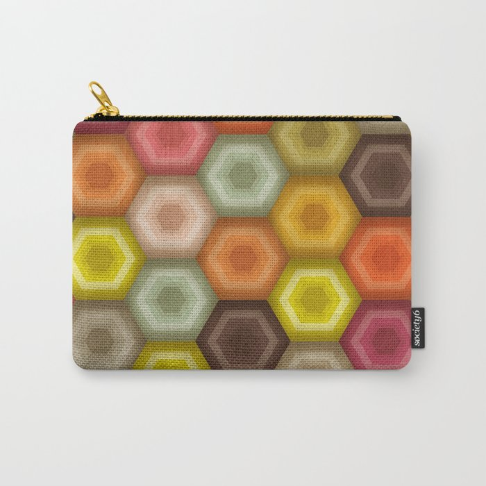 crochet honeycomb retro Carry-All Pouch
