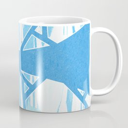 Abstract Blue Mosaic Design Coffee Mug