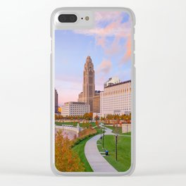 Columbus 01 - USA Clear iPhone Case