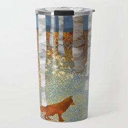 Autumn Fox Travel Mug