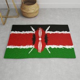 Extruded Flag of Kenya Rug