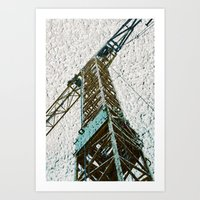 crane Art Prints featuring Crane by Art & Fantasy by LoRo