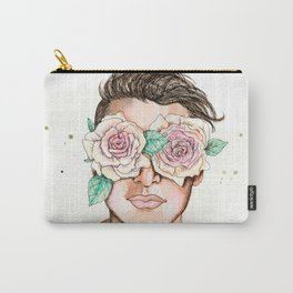 white roses in their eyes Carry-All Pouch