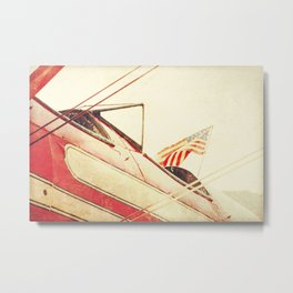 Salute // Antique Airplane Metal Print