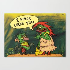 I never liked you Canvas Print