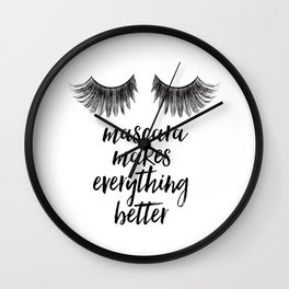 Girls Art Makeup canvas art Girly Makeup room Decor Girls quGirls Arote Makeup quotes Glamour Decor Wall Clock
