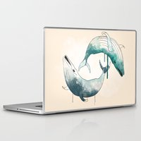 whales Laptop & iPad Skins featuring whales by Chebhead