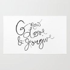 Grow, Love & Forgive Rug