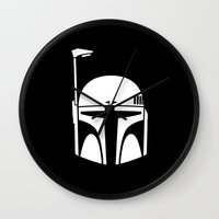 boba Wall Clocks featuring BOBA FETT! by John Medbury (LAZY J Studios)