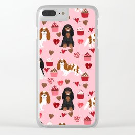 Cavalier King Charles Spaniel mixed coats valentines day dog breed must have cavalier spaniels gifts Clear iPhone Case