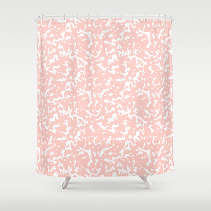 Pink and White Composition Notebook Shower Curtain