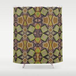 Shaman plaid Shower Curtain