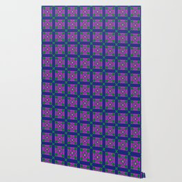 Disco Preppy Tiles Wallpaper
