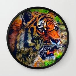 Tiger Painting Wall Clock