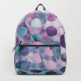 Circles on Triangles Lavenders Blues Backpack