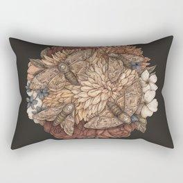 Flowers and Moths Rectangular Pillow