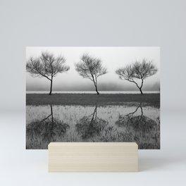 Three trees Mini Art Print