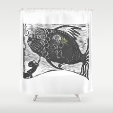 Hungry Fish Shower Curtain