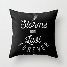STORMS Throw Pillow