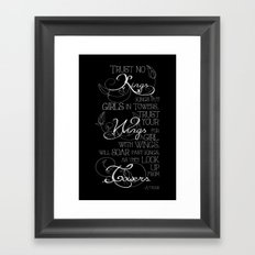 Trust No Kings Framed Art Print