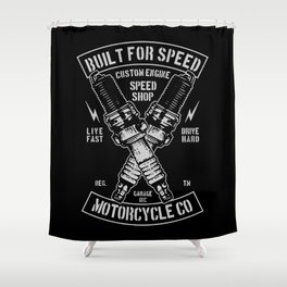 build for speed Shower Curtain