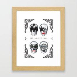 Hell or Hallelujah - KISS skulls Framed Art Print