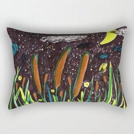 Summer Cattails Rectangular Pillow