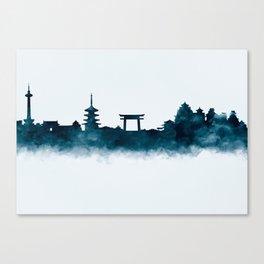 Kyoto Skyline Canvas Print