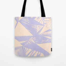 Modern lilac ivory violet geometrical shapes patterns Tote Bag