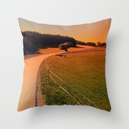 Hiking trip in summer time | landscape photography Throw Pillow