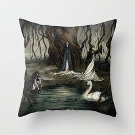 The Norns Throw Pillow