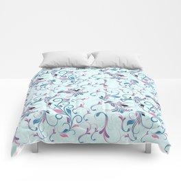 Blooming Blue Comforters