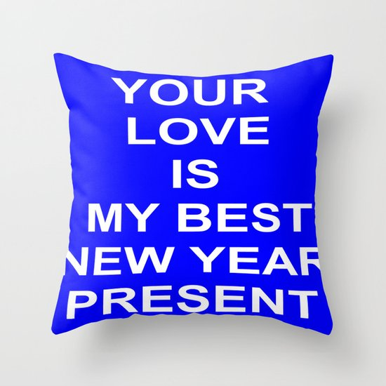 New Year Love Throw Pillow