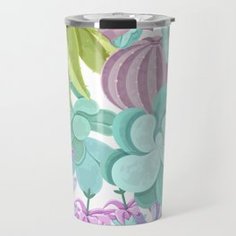 Tropical Cactus Pattern Travel Mug