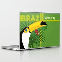 brazil Laptop & iPad Skins featuring Brazil [rainforest] by Caetanorama Art Studio