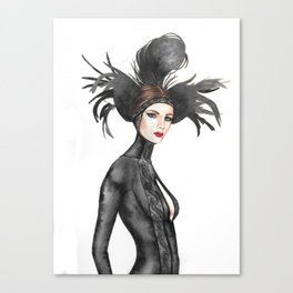 Black Feathers Canvas Print