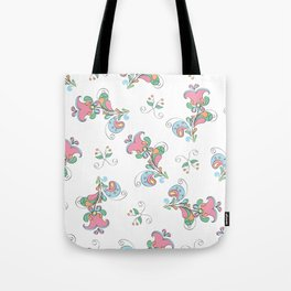 Elegant seamless pattern of flowers and leaves in the Russian style  Tote Bag