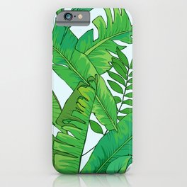 Tropical Palm Leaves Graphic Design iPhone Case