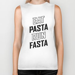 Eat Pasta Run Fasta v2 Biker Tank