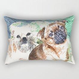 Griffon Bruxellois & Griffon petit brabancon 3 Rectangular Pillow