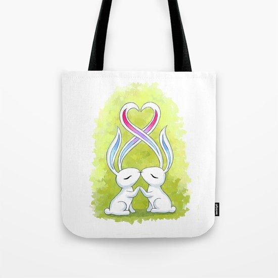 Bunny Kiss Tote Bag