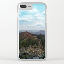 peaks and valleys Clear iPhone Case