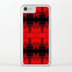 Red Black Diamond Gothic Pattern Clear iPhone Case