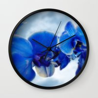 orchid Wall Clocks featuring Orchid by Saundra Myles