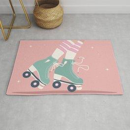 Roller skate girl 001 Rug