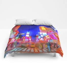 Times Square New York Pop Art Comforters