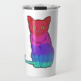Graffiti Cat Travel Mug