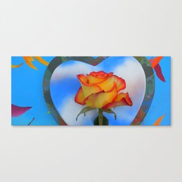 Sunrise Rose and Paintings Canvas Print