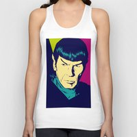 spock Tank Tops featuring Spock Logic by Vee Ladwa